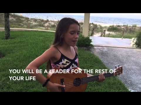 **Izzy 9 Sings, The 7 Habits song, w Lyrics written  Janna Bolin  Rolling in the deep