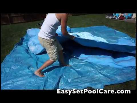 Intex EasySet Pool Installation (YEAR FIVE) After Storing in Basement Closet All Winter