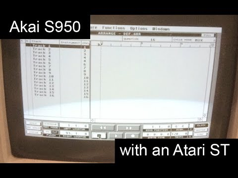 Akai S950 Part TWO: Its erstwhile colleague - the Atari ST