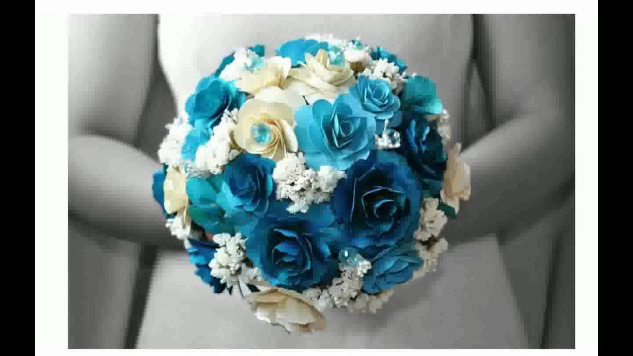 Blue wedding bouquets youtube blue wedding bouquets izmirmasajfo