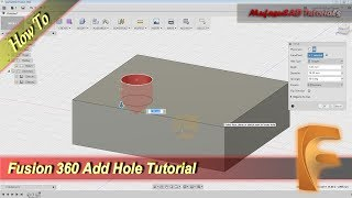 Fusion 360 How To Add Hole On Object