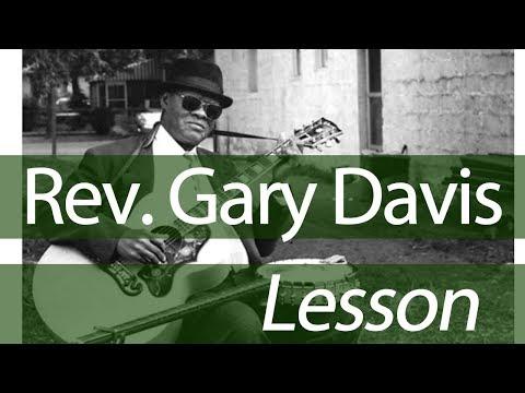 Rev Gary Davis Blues Legend #5 - No 'Mercy In this Land' Guitar Lesson - D minor slide guitar tuning