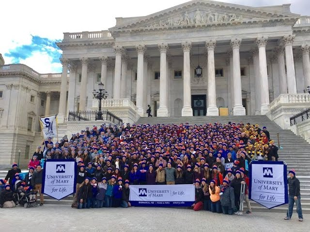 University of Mary's Katrina Gallic Inspires Youth with Powerful 2017 March for Life Speech