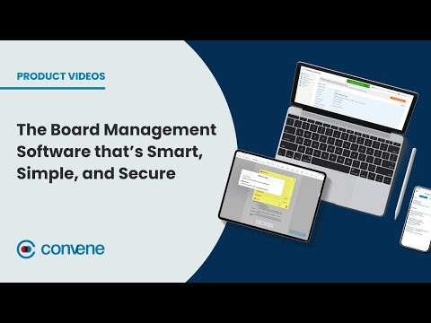 Convene — The Board Management Software that's Smart, Simple, and Secure