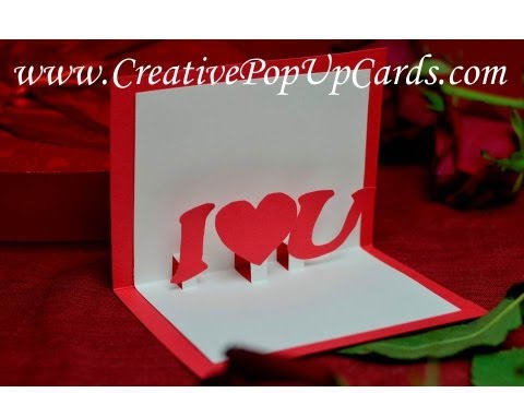 Simple Valentines day Pop Up Card Tutorial: Stepped Heart