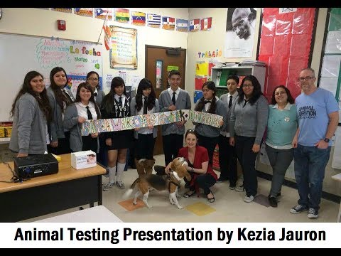 Animal Testing Presentation to SAREA at Aspire Pacific Academy