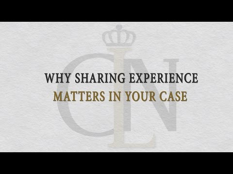 Why Sharing Experience Matters In Your Case - Carey Leisure & Neal
