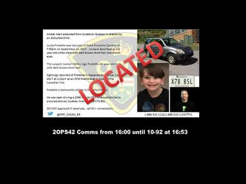 OPP Radio Traffic as they Capture Quebec Murder Suspect and Rescue Amber Alert Kidnap Victim