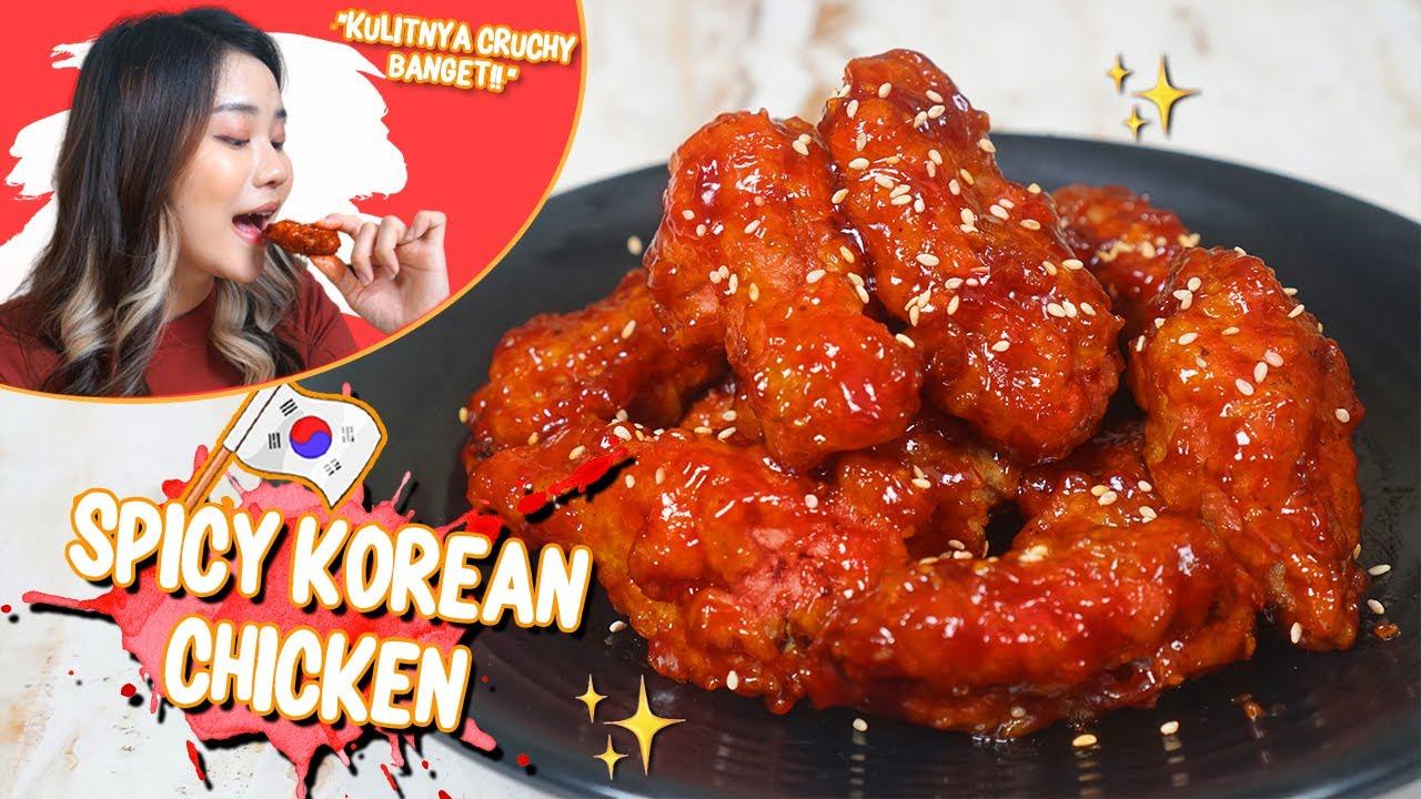SPICY KOREAN CHICKEN YANG SUPER GARING! ENAK BANGET!