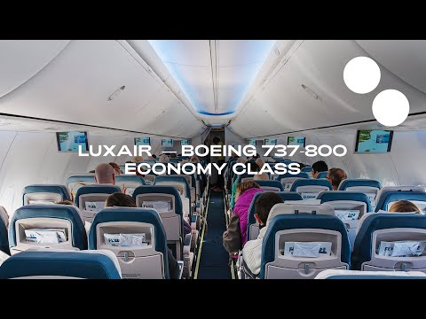LUXAIR NEW ECONOMY BOEING 737-800 LISBON - LUXEMBOURG