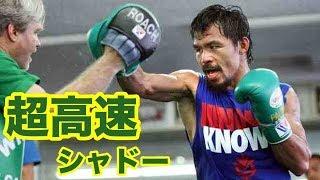 マニー・パッキャオの超高速かつ精密なトレーニング【ボクシング】