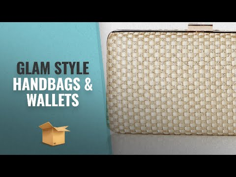 Glam Style Handbags & Wallets Collection: Jessica McClintock Noelle Woven Satin Glitter Evening