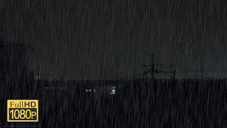 【雷雨】眠れない夜に雷雨の音を聴いて落ち着く[1時間40分]