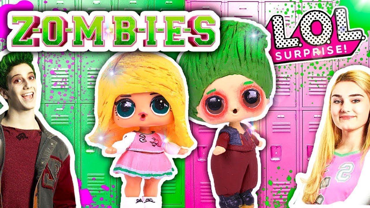 Zombies Película Disney Channel Zed Y Addison Son Muñecas Lol Sorpresa Transformaciones Fantásticas