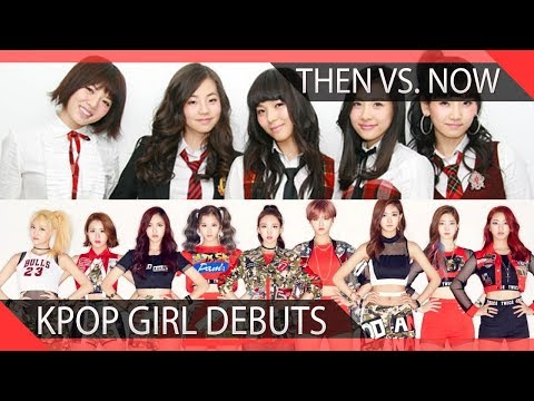 KPOP Company Debuts Then Vs. Now- Girl Groups