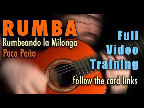 Rumbeando La Milonga (Rumba) By Paco Pena - Full Video Training - Card Links