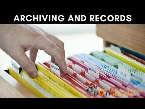 Archive and Records Training Course
