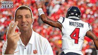 "Deshaun Watson's College Head Coach Dabo Swinney on Watson's Evolution, ""Nobody does that"""