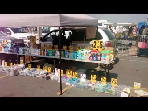 Flea market at Met life stadium in the meadowlands NJ.