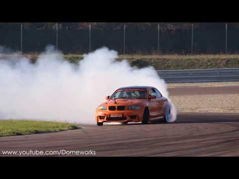 Смотреть V10 BMW 1M 550HP [M5 Swap] - Drifting Destroys tires + On-Board онлайн