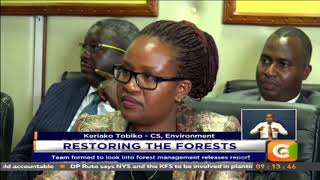 The forest task force formed to look into forest management releases report
