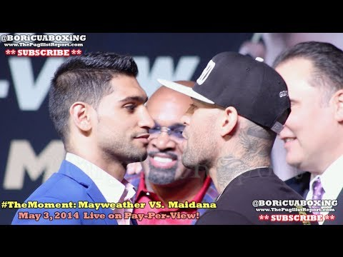 AMIR KHAN VS. LUIS COLLAZO Final Press Conference & FACE-OFF!!!