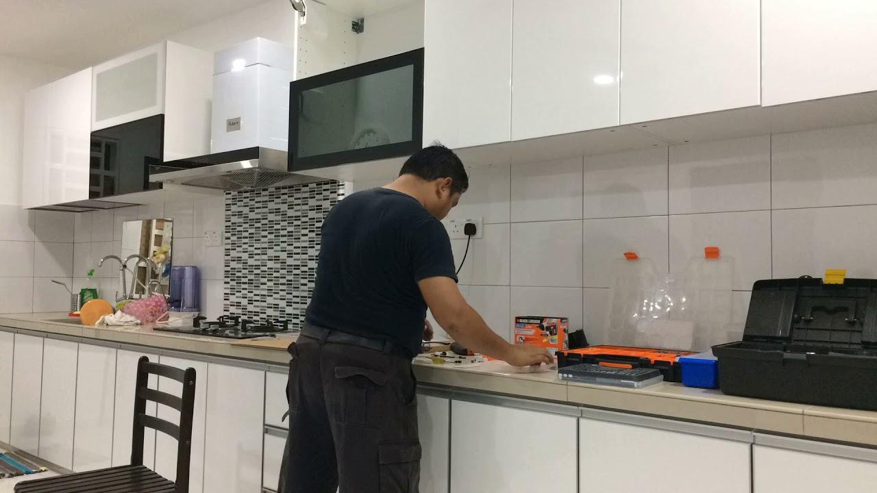 Diy Ikea Jutis Glass Door Smoked Black Metod Wall Cabinet Malaysia