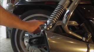 Cruiser Motorcycle Rear Suspension Adjustment - Triumph Thunderbird