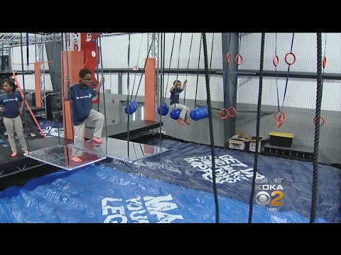 New Sky Zone In Canonsburg Offers 'Warrior Course,' Rock Climbing Wall