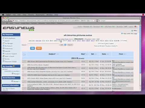 Customizing Easynews Usenet - Part 3 of 4 - Index Settings