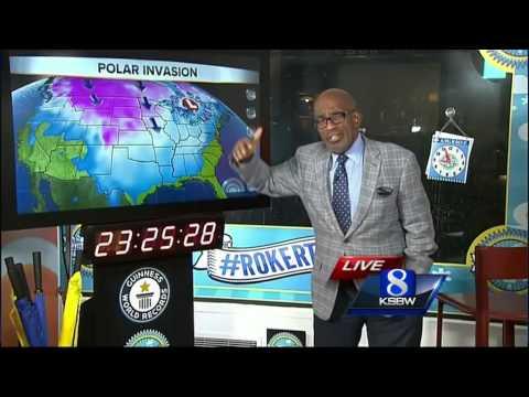 Al Roker forecasts weather with Jim Vanderzwaan