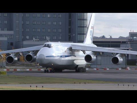 крен перед отрывом Ан-124 Руслан RA-82038 Внуково 2019 224 ЛО
