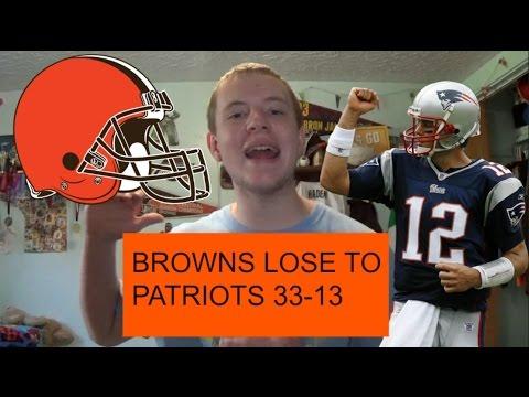 Browns lose to Patriots 33-13 - Clipboard Jesus Couldn