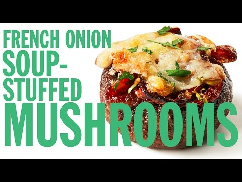 French Onion Soup-Stuffed Mushrooms | Food Network
