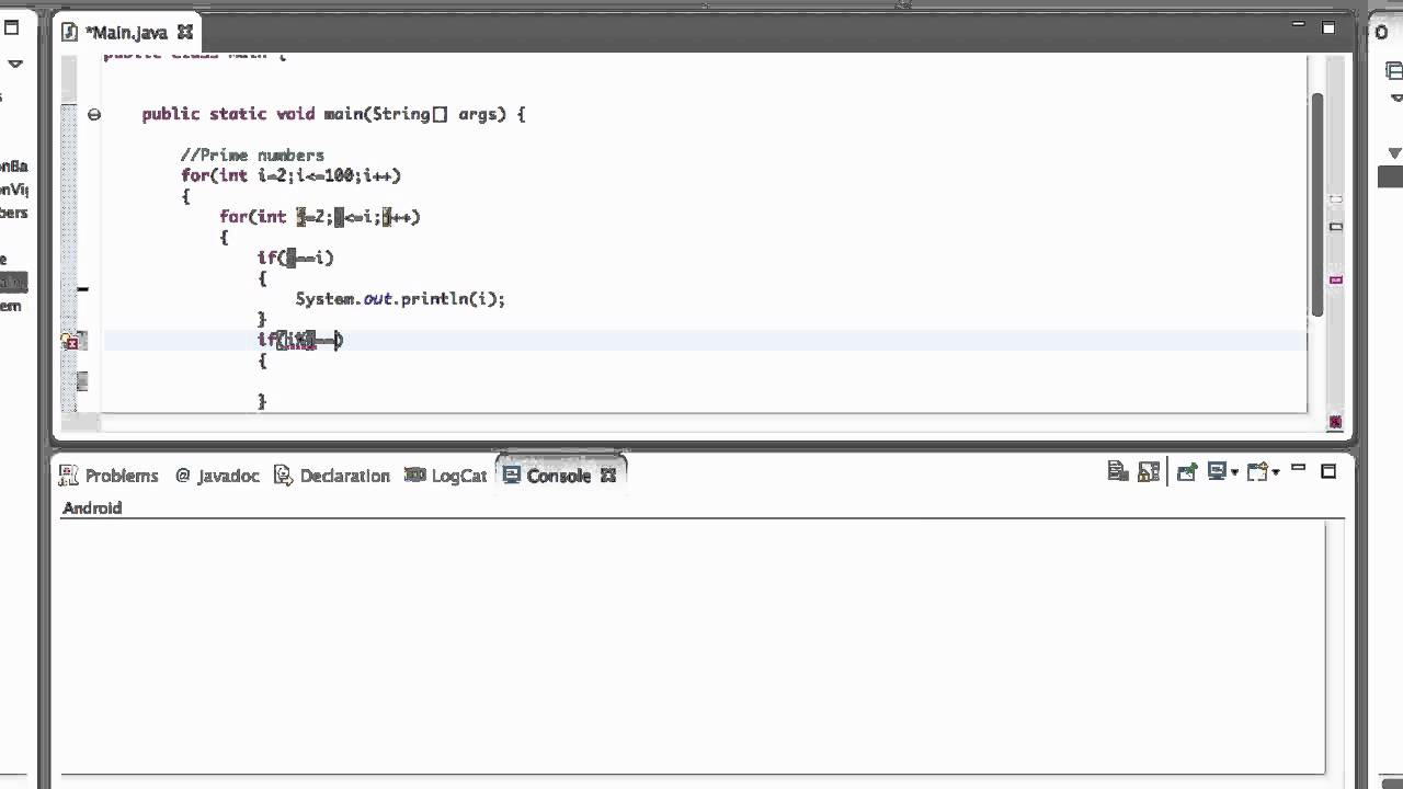 How To Get Prime Numbers In Java Youtube