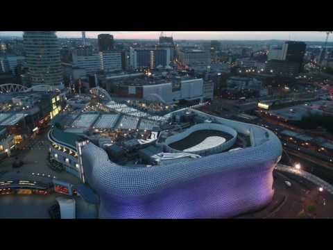 Birmingham city by drone