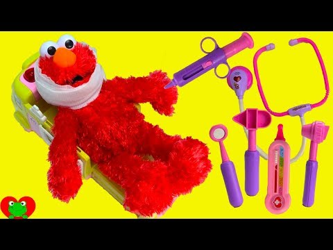 Sesame Street Elmo Ouchie Ambulance and Doctor's Visit