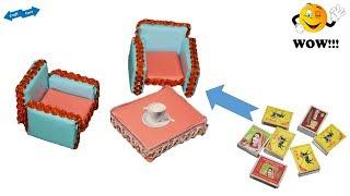 Best match box table chair idea * best matchbox reuse idea * best out of waste