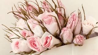 ARTESANATO  ♥ Mini rosinhas feito com papel higiénico.