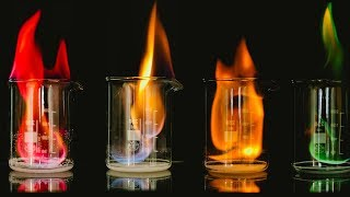 The rainbow flame demonstration