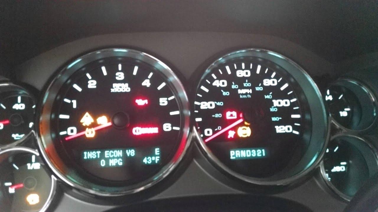 2009 Chevy Silverado Dash Lights