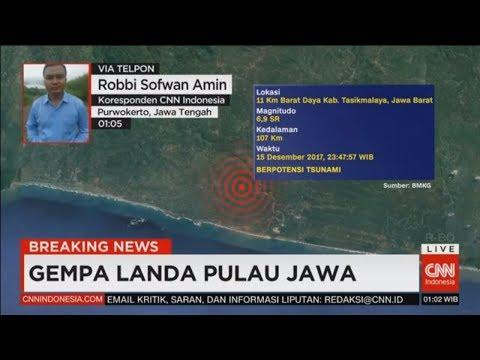Breaking News! Gempa Landa Pulau Jawa, Gempa Tasikmalaya 6,9 SR