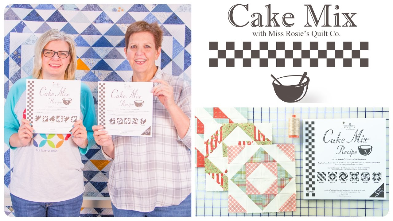 Cake Mix Recipes Triangle Paper for Layer Cakes by Miss Rosie of