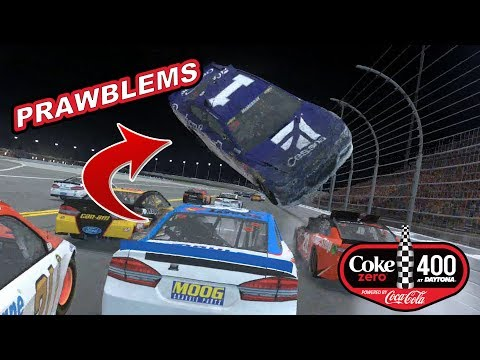 DRIVING UNDER FLYING CARS!  [2017 Coke Zero 400] NASCAR Heat Evolution Career Mode [S2 Race #17]