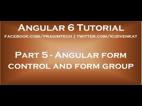 Angular form control and form group