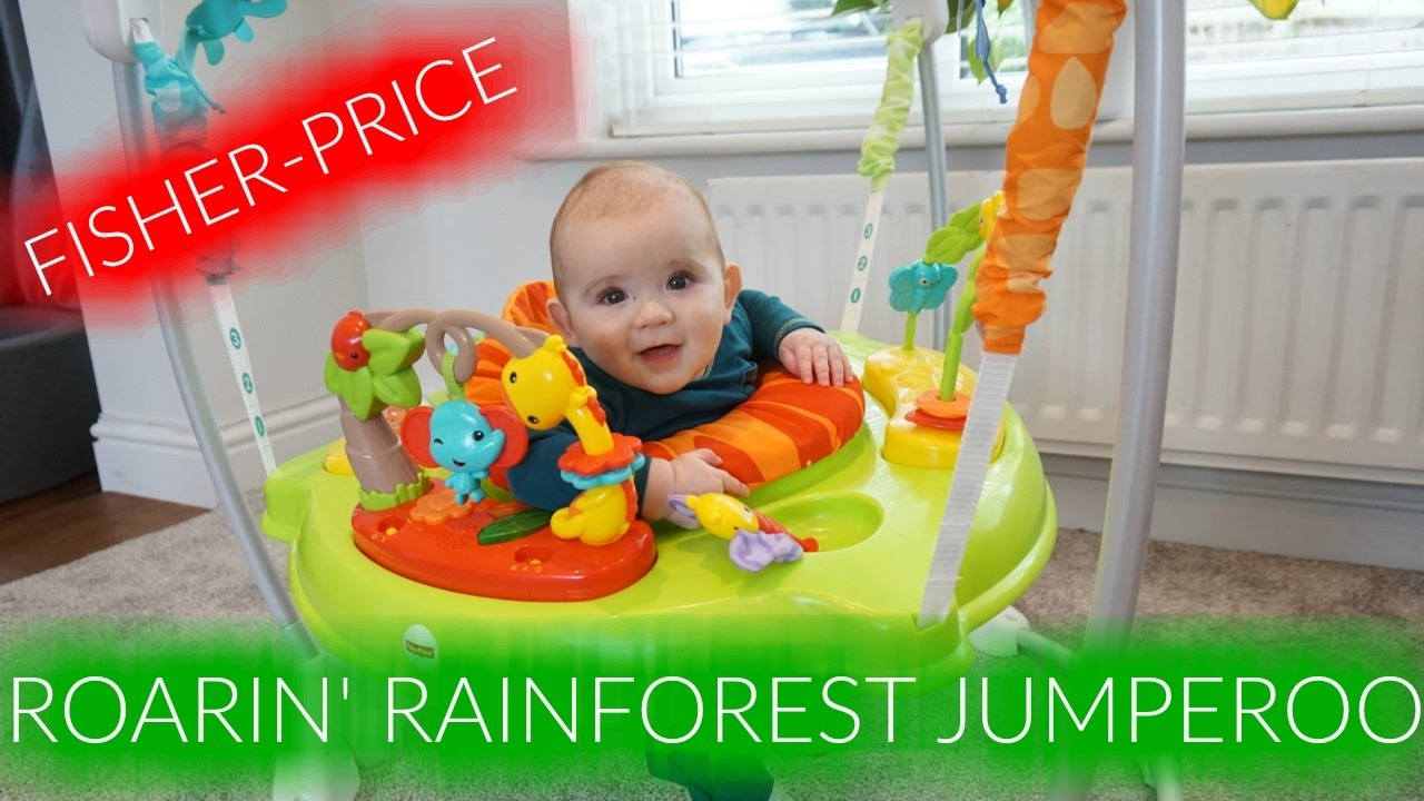 bd3b0a497 FISHER-PRICE ROARIN  RAINFOREST JUMPEROO REVIEW