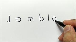 Video WOW,, menggambar kata JOMBLO jadi gambar KEREN download MP3, 3GP, MP4, WEBM, AVI, FLV November 2018