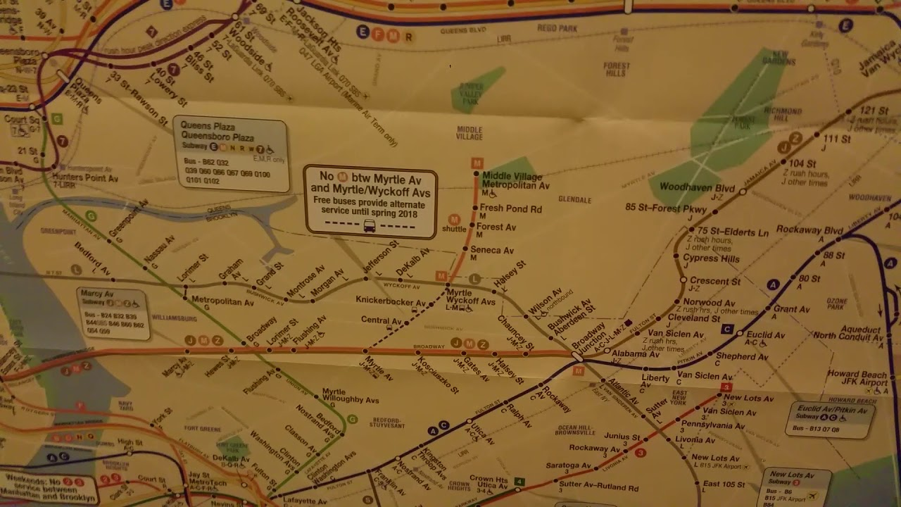 New September 2017 Subway Map - YouTube on