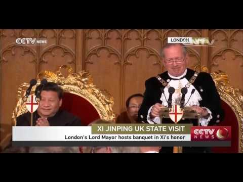 Full video: London's Lord Mayor hosts banquet in Xi