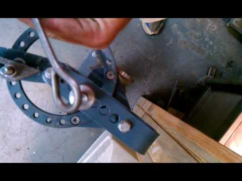 Harbor Freight Compact Bender with eye bolt tool